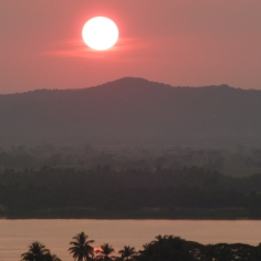 Sunset over Mawlamyine, Myanmar