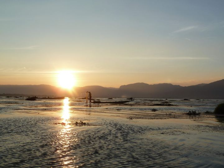 Sunset at Inle Lake - S Bell