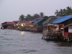 The restaurants at the crab market, Kep, Cambodia