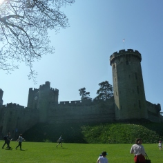 A sunny day at Warwick Castle, UK