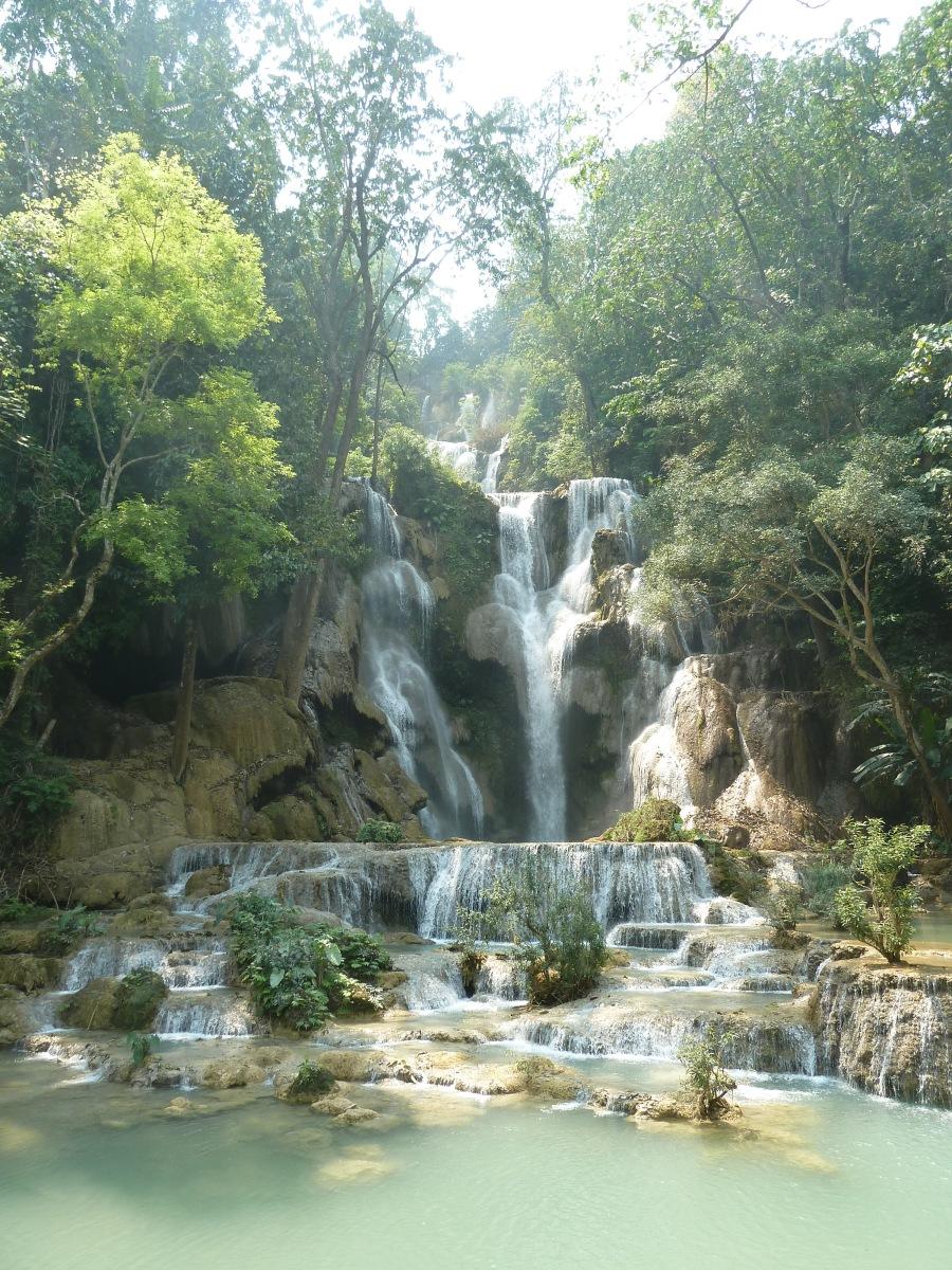 Cooling Off at Kuang Si Falls, Laos