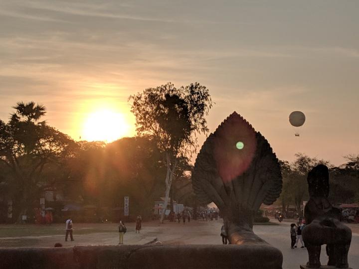 Flying High Over AngkorWat!