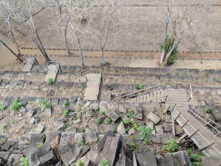Koh ker - stairs from above IMG_20190304_153407