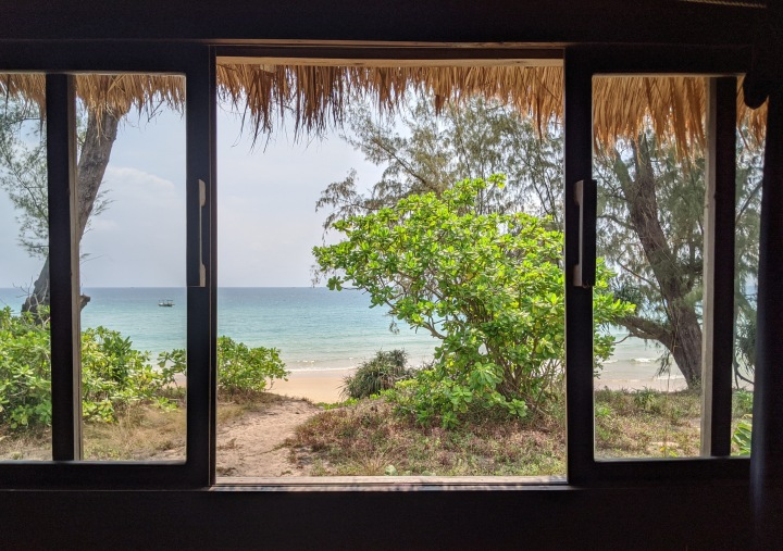 Lazy beach window
